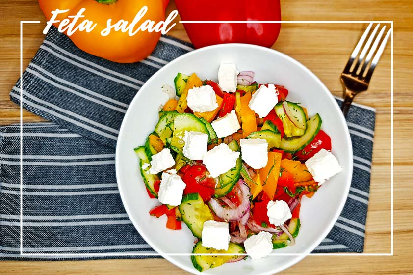 Bell pepper salad with feta